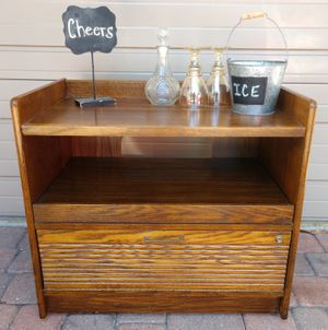 MCM Retro Bar Server Cabinet Side Table on Wheels or TV Stand for Sale in Gulfport, FL