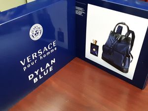 Versace Backpack with Mens Cologne for Sale in Riverside, CA