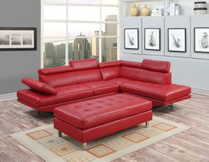 (JUST $54 DOWN) Brand New Red Modern Sectional (Financing and Delivery available) for Sale in Carrollton, TX