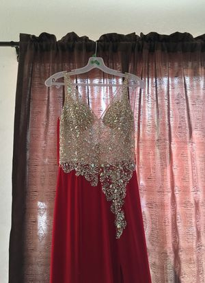 PROM DRESS - RED (SMALL) for Sale in Riverside, CA