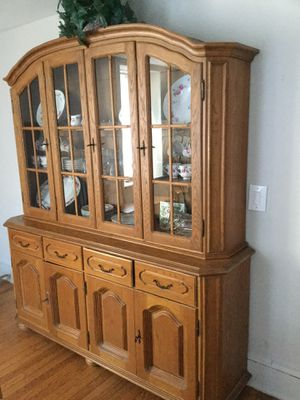 Dining room set part one: Dining room hutch for Sale in Hyde Park, NY