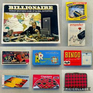 9 classic vintage retro table family board games for Sale in San Mateo, CA