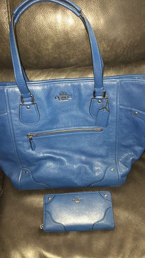 Blue Coach hand bag for Sale in Puyallup, WA