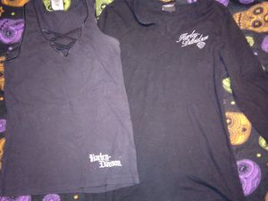 Womens 2 Harley Davidson tops both size L biker, bas a** momma for Sale in Greenville, OH