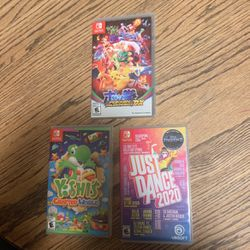 Lot Of 3 Switch Games: Pokken Tournament Dx, Yoshie's Crafted World, Just Dance 2020 for Sale in Burke,  VA