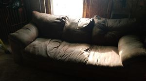 Brown microfiber couch for Sale in Mount Carmel, PA