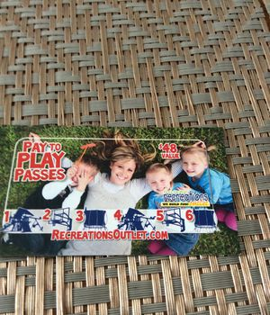Recreation outlet play passes for Sale in Lewis Center, OH