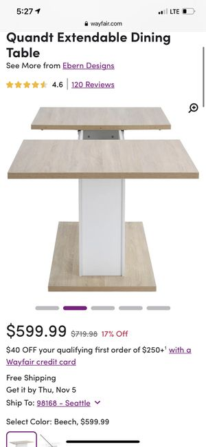 Dining table (extendable) for Sale in Seattle, WA