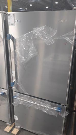 "Maytag 30"" bottom freezer refrigerator stainless steel for Sale in Denver, CO"