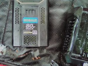 80 volt kobalt chainsaw brand new with battery and charger for Sale in Milton, WA