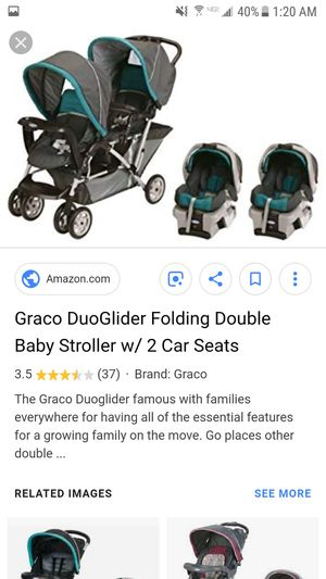 Graco Duoglider double stroller with 2 infant seats and bases for Sale in NEW KENSINGTN, PA