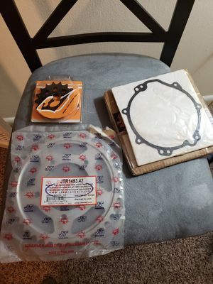 ZX14R front,rear sprockets, clutch cover gaskets for Sale in Silver Spring, MD