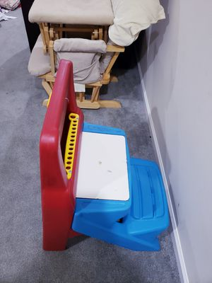 Art table an nursing rocking chair with foot rest for Sale in Alexandria, VA