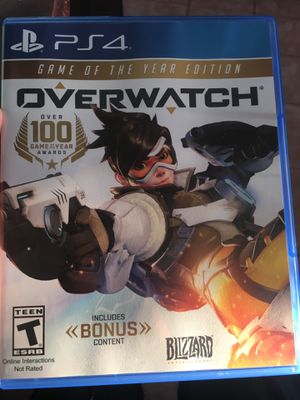 OVERWATCH GAME OF THE YEAR EDITION for ps4 for Sale in Sudley Springs, VA