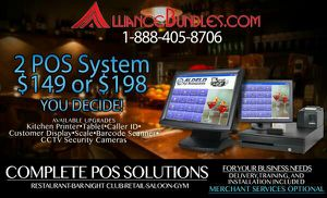 2 Station POS System Bundle Restaurant Equipment Diner Bar Pizzeria for Sale in New York, NY