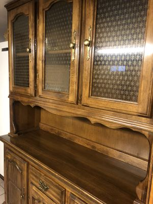 Antique Medium Dark Wood Hutch Cabinet for Sale in Cambridge, MA