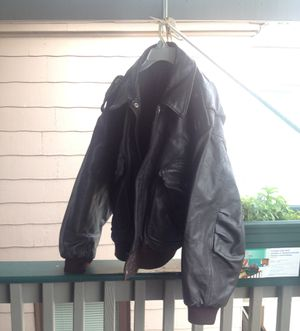 US army leather jacket for Sale in Boston, MA