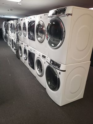 large selection of front load washer and dryer set 90 day warranty for Sale in Baltimore, MD