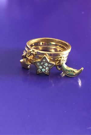 Cute Gold Celestial Stacking Rings for Sale in Hacienda Heights, CA