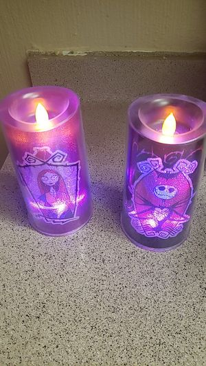 Jack and Sally Nightmare before Christmas Electric Candles for Sale in El Paso, TX