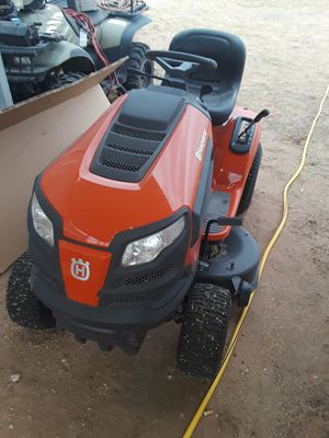 Husqvarna Riding mower trade for small camper for Sale in Midland, TX