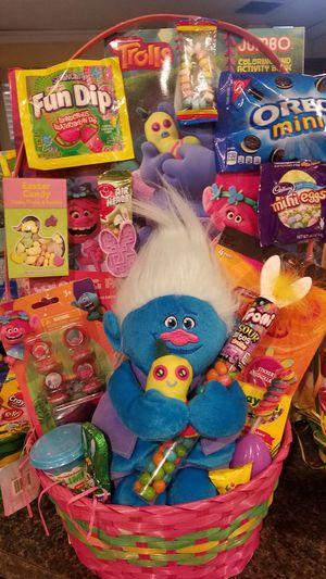 Trolls easter basket boy/girl for Sale in Ontario, CA