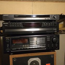Very nice Sony five disc CD changer with DVD player Onkyo receiver amplifier for Sale in Stockton,  CA