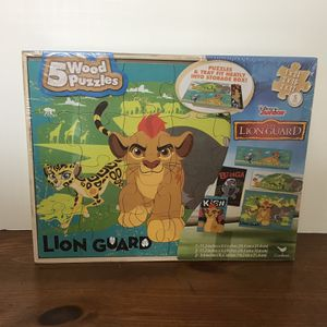 NEW! Disney Junior The Lion King Guard 5- Wooden Puzzles for Sale in St. Louis, MO
