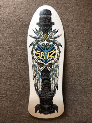 Vintage 1989 NOS Powell Paralta Steve Saiz skateboard. Grip tape added. See pics for condition. for Sale in Oak Grove, KY