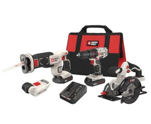 PORTER CABLE 4-Tool 20-Volt Max Power Tool Combo for Sale in Katy, TX
