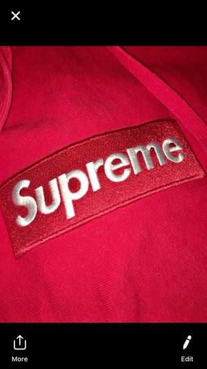 Rare supreme red on red box logo meet anyway to authenticate serious buyers only for Sale in Saint Clair Shores, MI