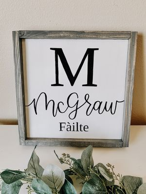 Farmhouse Wood Sign / Home Decor / Family Personalized for Sale in Bakersfield, CA