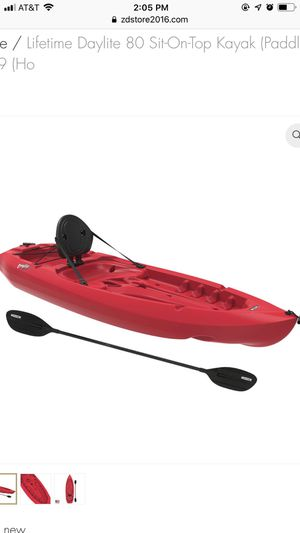 Lifetime Daylite 80 Sit-On-Top Kayak (Paddle Included) 8 FT Red 90775 - $109 (Ho for Sale in Houston, TX