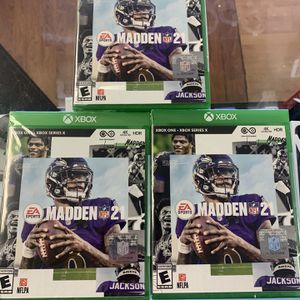 MADDEN 21 XBOX ONE*XBOX SERIES X for Sale in Fort Lauderdale, FL