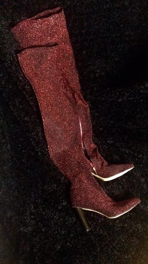 Sparkle Red Thigh High Boots for Sale in Stonecrest, GA