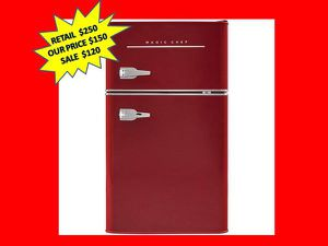 Magic Chef Retro 3.2 cu. ft. 2 Door Mini Fridge in Red NEW for Sale in Plantation, FL