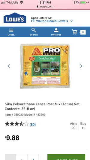 Fence post mix for Sale in Navarre, FL