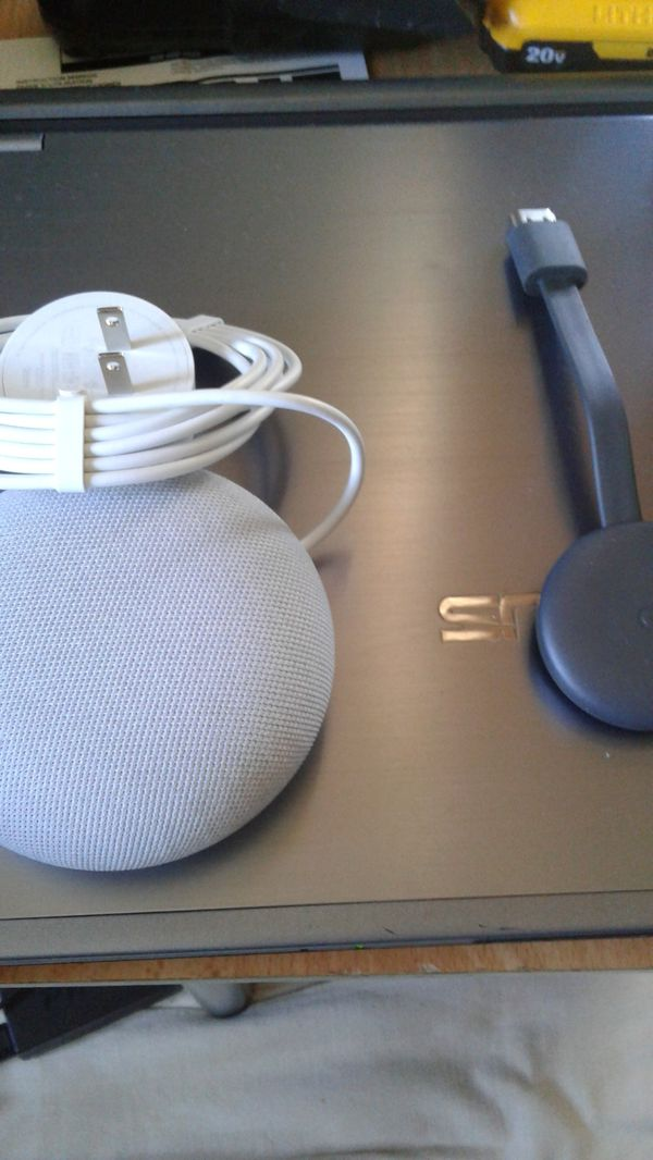 Google nest speaker & chromecast for tv package deal or part out $100 OBO