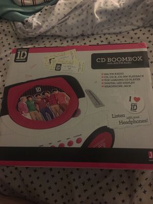 One Direction CD, BOOMBOX with RADIO. for Sale in Mission Viejo, CA