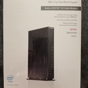Netgear Model Ac1750 Wi-Fi Cable Modem Router 802.11 Axt Dual Band Gigabyte for Sale in Aurora, CO