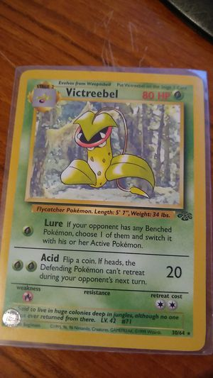 Victreebel Pokemon 30/64 Unlimited Edition for Sale in San Gabriel, CA