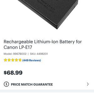 Canon LP-E17 Camera Battery for Sale in Albuquerque, NM
