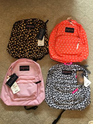 Jansport Super Break Backpacks New with Tags Lifetime Warranty for Sale in Torrance, CA