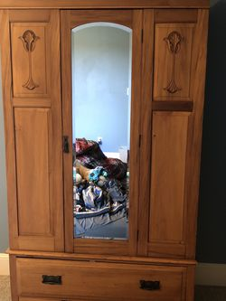 Antique Armoire Light Wood for Sale in Ridgefield,  WA