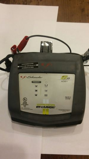 SCHUMACHER 6V / 12V 6A BATTERY CHARGER WITH SPEED CHARGE , AUTO VOLTAGE DETECTION WITH MICROPROCESSOR CONTROLLED for Sale in Alexandria, VA