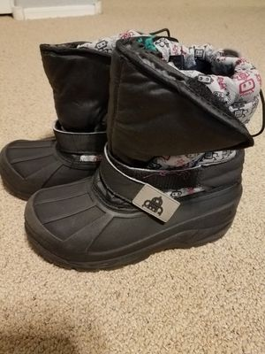 Snow boots size 2 kids 2c robot theme for Sale in Gilbert, AZ
