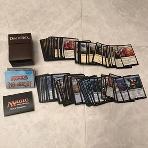 Magic the gathering trading card game lot with deck box vintage classic retro cards for Sale in Burtonsville, MD