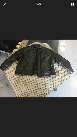 2 Leather motorcycle jacket's and one vest Good Condition for Sale in Fort Washington, MD