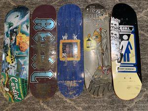 Skateboards girl, toymachine, weekend, real, antihero for Sale in Norco, CA