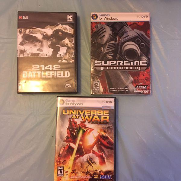PC Games 2142 Battlefield   Supreme Commander   Universe At War